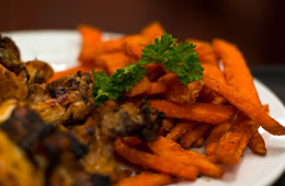 Charqui Yam Fries with Grilled Chicken